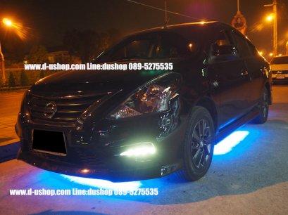 บริการติดตั้งไฟใต้ท้อง Super LED แบบเม็ดใหญ่ สำหรับ Nissan Almera