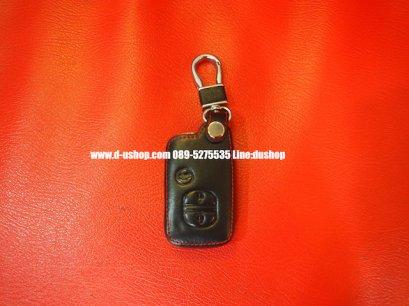 กระเป๋ากุญแจหนังดำด้ายแดงตรงรุ่น Toyota Alphard