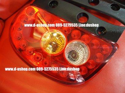 โคมไฟท้าย แดงขาว LED Nissan March by Eagle Eye
