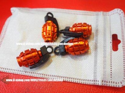 จุกลมล้อโลโก้ลายระเบิดสีส้ม สำหรับรถทุกรุ่น