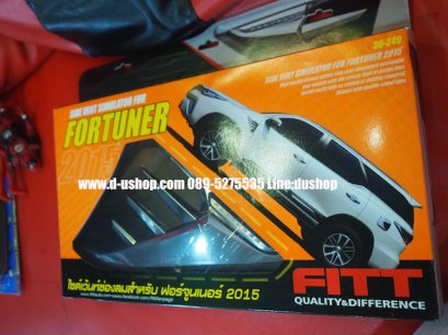 ครอบไฟแก้มโครเมียม Toyota Fortuner All New 2016 Fitt