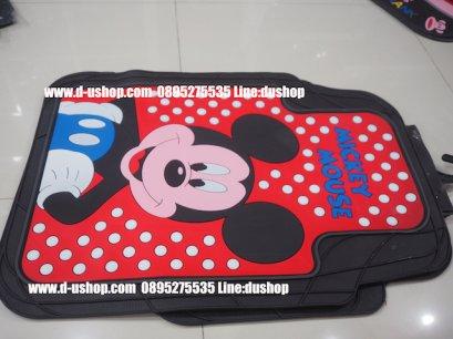 ผ้ายางปูพื้นลายMicky Mouse แดงดำสำหรับรถทุกรุ่น