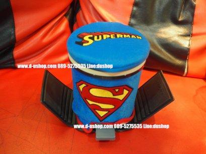 ถังขยะอเนกประสงค์ลายซูเปอร์แมน Superman สำหรับรถทุกรุ่น