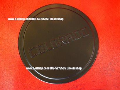 ครอบฝาถังน้ำมันดำด้านตรงรุ่น Chevrolet Colorado New 2012-16 Ver.3