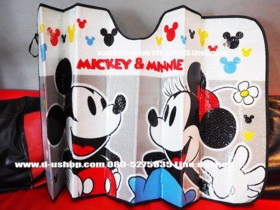 ม่านบังแดด ลาย Mickey & Minnie สำหรับรถทุกรุ่น