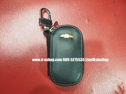 กระเป๋ากุญแจรถยนต์หนังดำแบบมีซิปทรงมน สำหรับ Chevrolet ทุกรุ่น