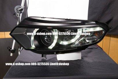 โคมไฟหน้าโปรเจคเตอร์พื้นดำตรงรุ่น Ford Ecosport CCFL
