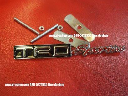 โลโก้ TRD Sportivo  พื้นดำตัดแดงติดกระจังหน้าสำหรับโตโยต้าทุกรุ่น