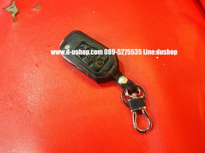 กระเป๋ากุญแจหนังดำด้ายแดงตรงรุ่น MG5