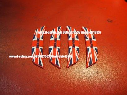 กันกระแทกประตูลายธงชาติอังกฤษแดงน้ำเงินออริจินัล แบบนูน สำหรับรถทุกรุ่น