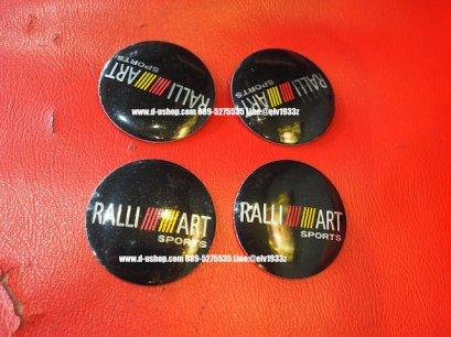 ดุมล้อโลโก้ Ralliart พื้นดำ สำหรับรถทุกรุ่น