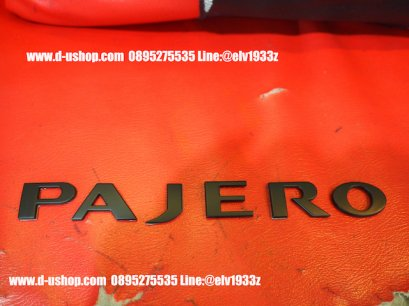โลโก้ฝากระโปรงหน้าพลาสติก Pajero สีดำ