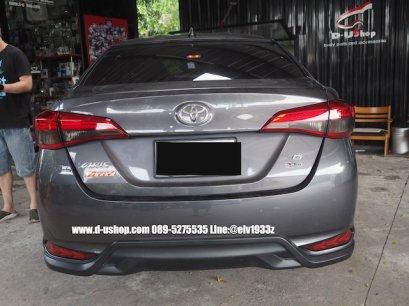 Toyota Yaris ATIV หุ้มฟิล์มสีสโมคไฟท้าย