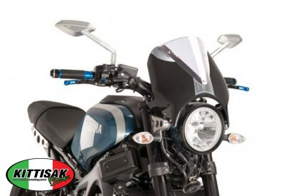 PUIG - WINDSHIELD RETRO BLACK ชิลด์ ​Retro ดำ