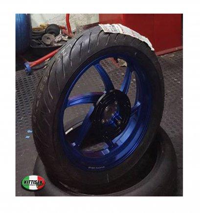 ล้อ OVER RACING สีน้ำเงิน  6 ก้าน X MAX300