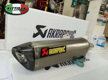 ท่อ AKRAPOVIC - SLIP ON NEW SHAPE TITANIUM