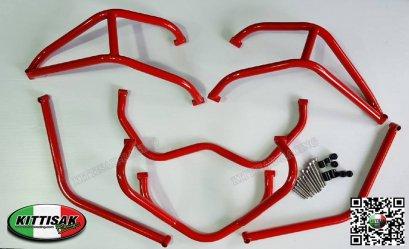 แคชบาร์ CRF 250 RALLY สีแดง สีดำ