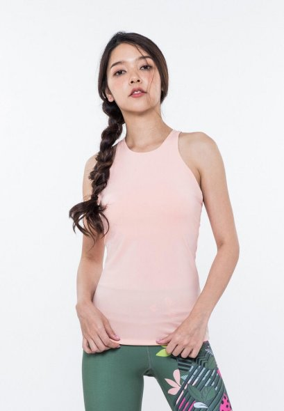 เสื้อกล้ามเสริมบรา ลิล่า คามิ สีแซลมอน | Lyra Cami Bra Salmon | スポーツタンクトップ | 运动背心 | débardeur de sport