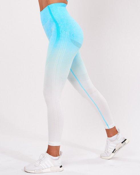 ไอซีไอดับเบิ้ลยู กางเกงออกกำลังกาย 7/8 รุ่นออมเบรย์ สีฟ้า