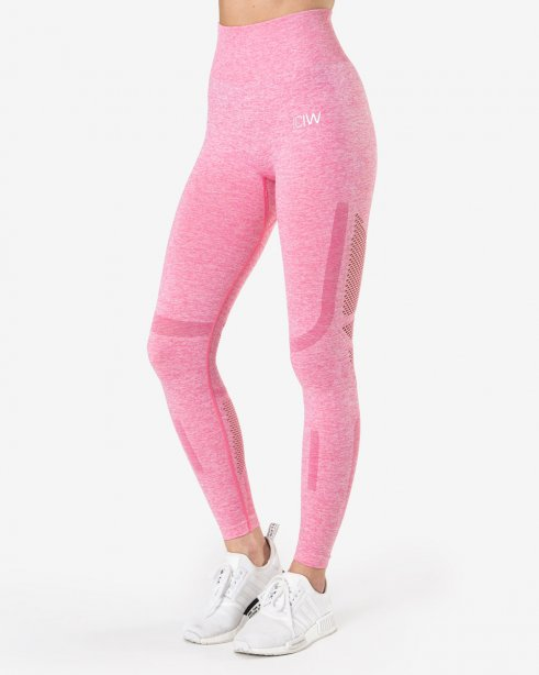 Queen Mesh 7/8 Tights Rose Pink Melange Wmn