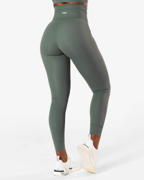 ICIW Nimble Tights Elm Green Wmn