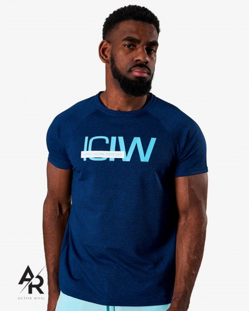 ICIW Training Mesh T-shirt Deep Blue Melange Men