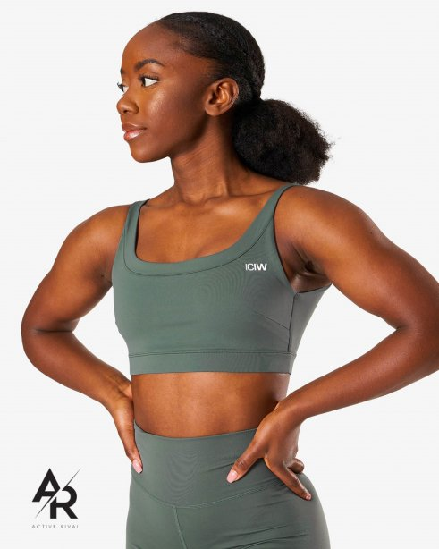 Nimble Sports Bra Elm Green