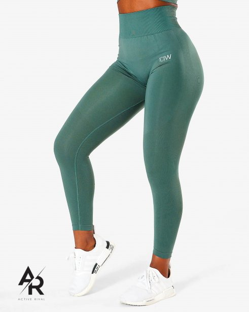 ICIW Define Seamless Tights Jungle Green Wmn