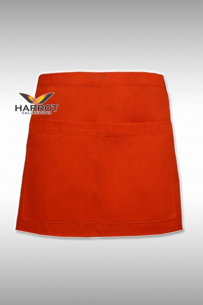 13 Inches Orange Half Apron