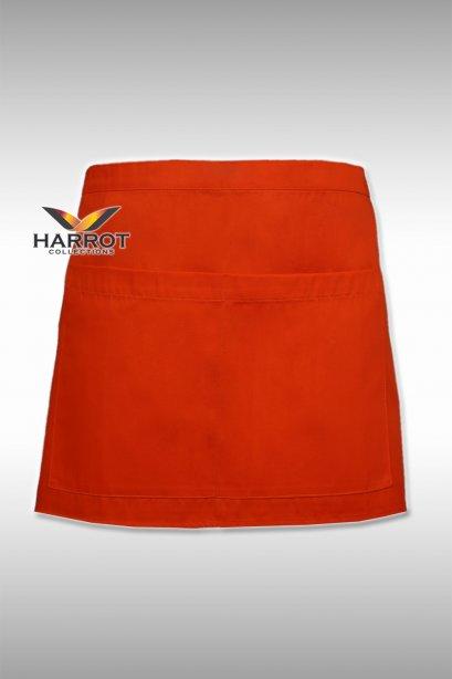 ผ้ากันเปื้อน ครึ่งสั้น 13 นิ้ว สีส้ม