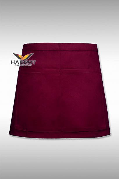 13 Inches Burgundy Half Apron