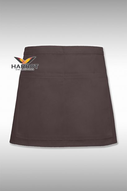 13 Inches Brown Half Apron