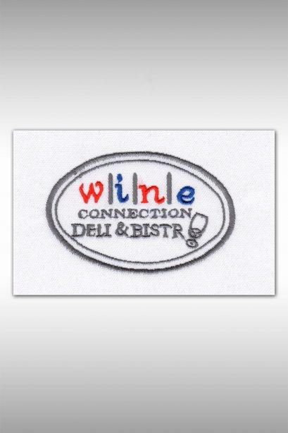 ตัวอย่างงานปัก Wine connection