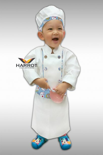 Long sleeve kid Chef Jacket