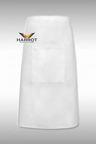 White Half Long Apron