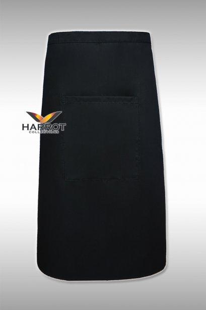 ผ้ากันเปื้อน ผ้ากันเปื้อนเชฟ ผ้ากันเปื้อนพ่อครัว ผ้ากันเปื้อนกุ๊ก ผ้ากันเปื้อนเสิร์ฟ ครึ่งยาว สีดำ(FSA0202)