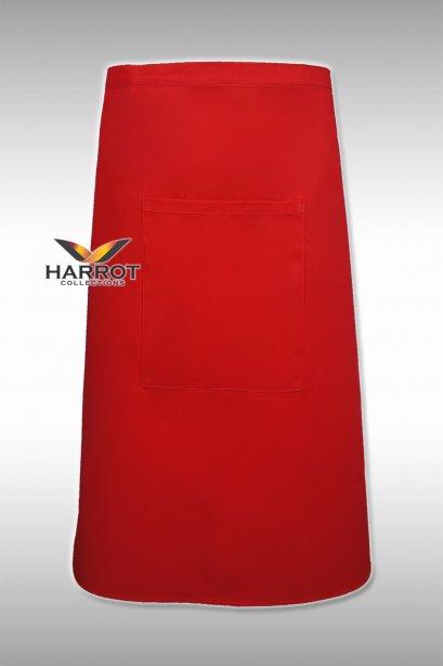ผ้ากันเปื้อน ผ้ากันเปื้อนเชฟ ผ้ากันเปื้อนพ่อครัว ผ้ากันเปื้อนกุ๊ก ผ้ากันเปื้อนเสิร์ฟ ครึ่งยาว สีแดง (FSA0203)