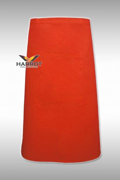 ผ้ากันเปื้อน ครึ่งยาว สีส้ม