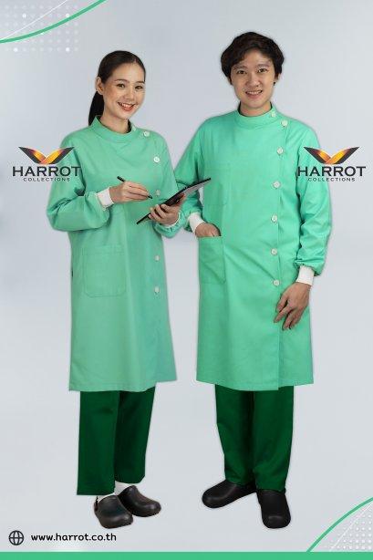 Green dental long sleeve gown coat (HPG0252)