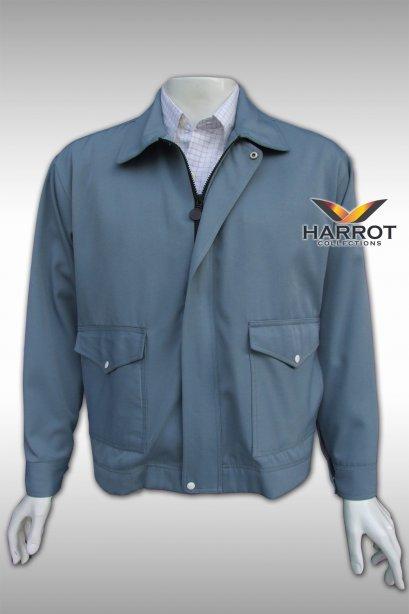 เสื้อแจ็คเก็ต สีเทาฟ้า
