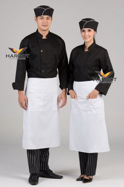Black long sleeve chef jacket