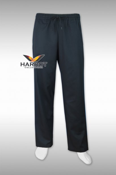 Black elastic waist chef trouser