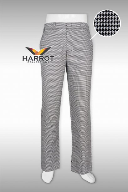Houndstooth chef trouser