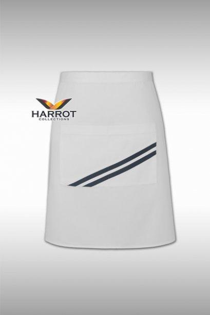 ผ้ากันเปื้อน ครึ่งสั้น เดอะสตรีท สีขาวกุ๊นเทา (FSA0181)