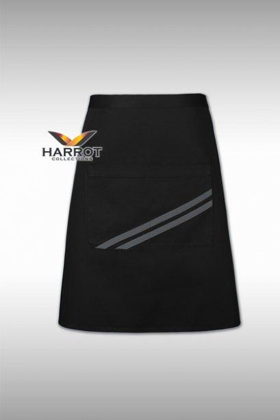 ผ้ากันเปื้อน ครึ่งสั้น เดอะสตรีท สีดำกุ๊นเทา (FSA0182)