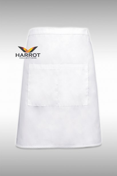 White Half Short Apron