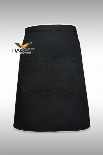Black Half Short Apron