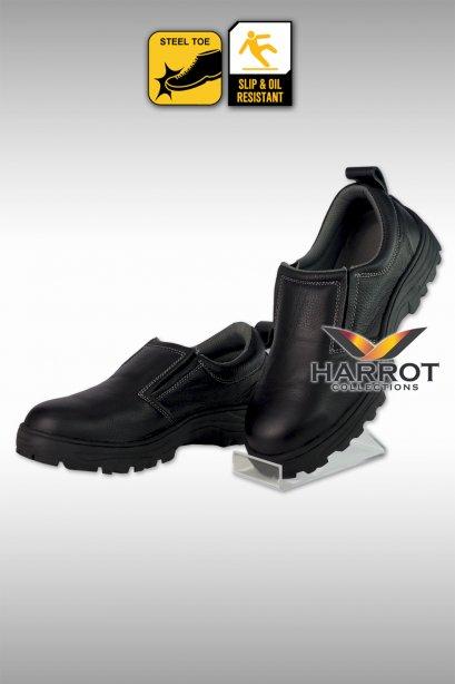 รองเท้าเชฟ แบบหุ้มส้น หนังแท้ สีดำ