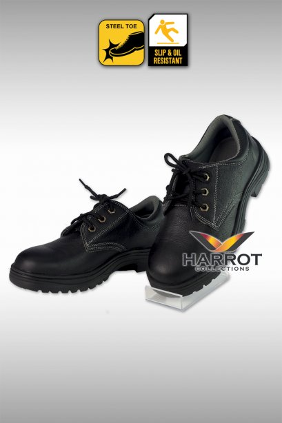 Chef safety lace up shoes with steel toe