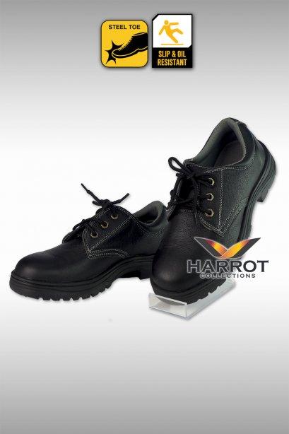 รองเท้าเชฟ แบบผูกเชือก หนังแท้ สีดำ